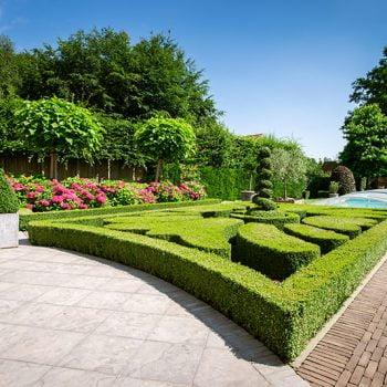 Engelse stijl tuin